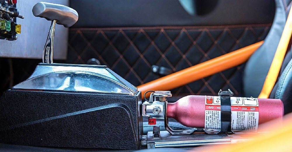 Automobile fire extinguisher